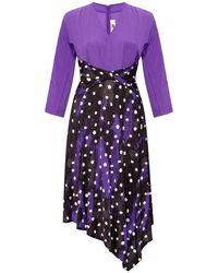 Diane von Furstenberg Long-sleeved Dress - Paars