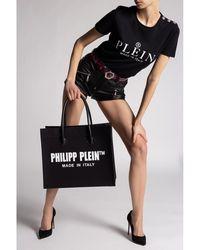 Philipp Plein - Playera con logo Negro - Lyst