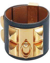 Hermès Collier de Chien Bracelet - Blu