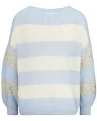 8pm Gestreifter Oversized-Pullover aus Mohair Azul
