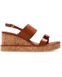 Ferragamo Giudith Wedge Sandals - Bruin