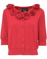 Boutique Moschino Cardigan With Embroideries - Rood