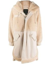 Mr & Mrs Italy Elizabeth Sulcer's Capsule Cotton Drill, Shearling And Leather Parka - Naturel