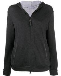 Brunello Cucinelli Zipped Long-sleeved Hoodie - Zwart