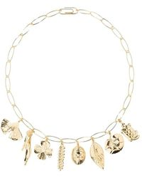 Aurelie Bidermann Aurélie chain and charms gold plated necklace - Giallo