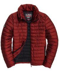 Superdry Double Zip Fuji Bright Red Winter Jassen - Rood