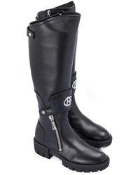 Baldinini Nappa leather boot - Schwarz