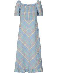 Bottega Veneta Nuchecky Dress - Blauw