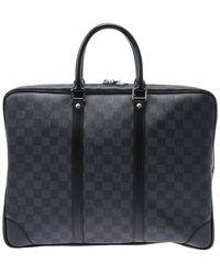 Louis Vuitton Porte document business d'occasion - Bleu