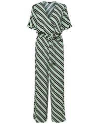 SELECTED V-hals Jumpsuit - Groen