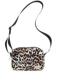 Ganni Tech Fabric Bag - Bruin