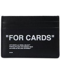 Off-White c/o Virgil Abloh Branded Card Case - Zwart
