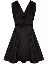 Self-Portrait Sleeveless Dress - Zwart