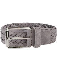 Tod's Braided Buckle Belt - Grijs