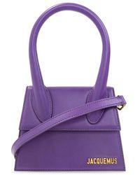 Jacquemus 'le Chiquito Moyen Shoulder Bag - Paars
