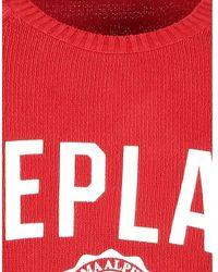 Replay Sweatshirt Punto Uk2665.G22790G/541-W Rojo