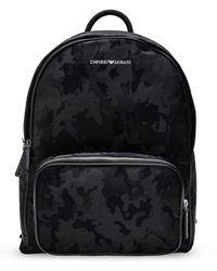 Emporio Armani Branded Backpack - Zwart