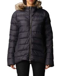 Paul & Shark - Short down jacket with hood and detachable fur closure with double-slider zip and buttons. - Lyst