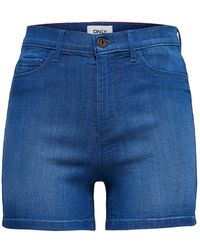 ONLY Denim Short High Waist - Blauw