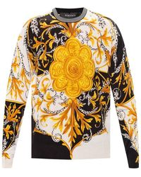 Versace Silk Sweater - Geel