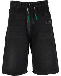 Off-White c/o Virgil Abloh Shorts With Plastic Zip - Zwart