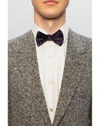 Giorgio Armani Silk bow tie Azul