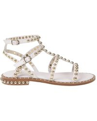 N°21 Sandal with studs - Bianco