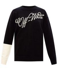 Off-White c/o Virgil Abloh - Trui Met Logo - Lyst