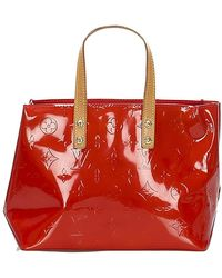 Alexander McQueen Vernis Reade PM Leather - Rosso