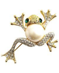 Kenneth Jay Lane Vintage - Frog Brooch - Lyst