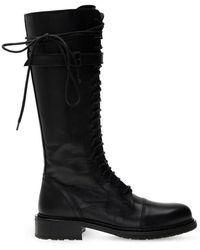 Ann Demeulemeester Heeled Lace-up Boots - Zwart