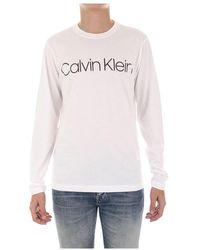 Calvin Klein K10k104690 Met Lange Mouwen - Wit