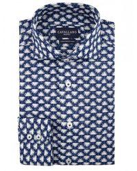 Cavallaro Foglia-shirt - Blauw