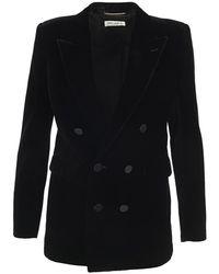 Saint Laurent Jacket 630873y525r - Zwart