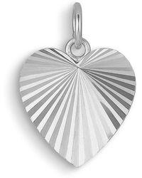 Jane Kønig Reflection Heart Necklace, Sterling Silver - Grijs