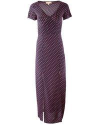 Michael Kors Slice Dots Slit Maxi Dress - Noir