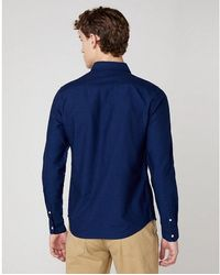 Wrangler Down Shirt Azul