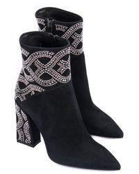 Loriblu Suede Ankle Boot - Zwart