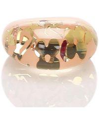 Louis Vuitton Anello di inclusione di cristallo in resina - Giallo