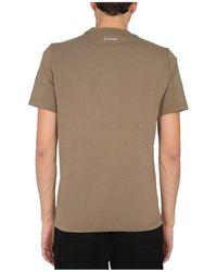 MA.STRUM T-Shirt With Logo Patch Marrón