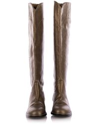 Chanel Vintage Leather High Riding Boots Marrón