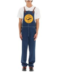 Burberry Overall With Print - Blauw