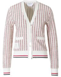 Thom Browne Striped cardigan - Blanc