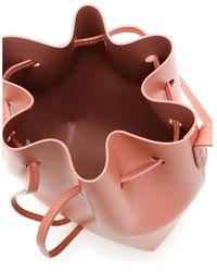 Mansur Gavriel Mini bucket bag Rosa