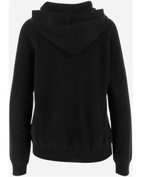 P.A.R.O.S.H. Sweater Model with non-removable hood Long sleeves Dropped shoulders Negro