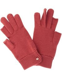 Rick Owens Touchscreen Gloves - Rood