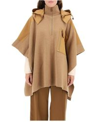 Burberry Hooded Cape With Cotton Inserts - Bruin