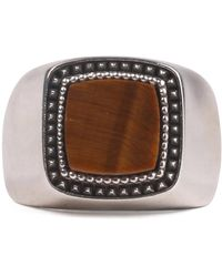 Emanuele Bicocchi Stone Ring - Marron