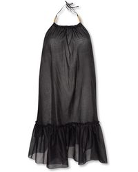 Stella McCartney Dress With Denuded Shoulders - Zwart