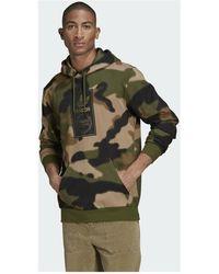 adidas Originals AOP hoodie camo Verde
